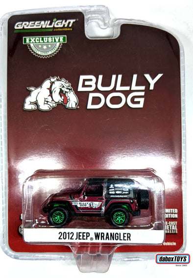 """GREEN MACHINE"" GreenLight 1/64 2012 Jeep Wrangler - Bully Dog (Hobby Exclusive) #30086"