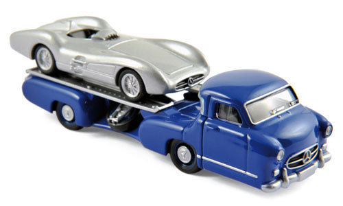 Norev 3 Inches  Mercedes-Benz Racing Transporter + W196
