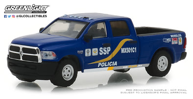 GreenLight 1/64 Hot Pursuit Series 30 - 2017 Ram 2500 - Mexico City, Mexico Policia Solid Pack #42870-F