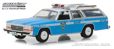 GreenLight 1/64 Hot Pursuit Series 30 - 1988 Ford LTD Crown Victoria Wagon - New York City Police Dept (NYPD) Solid Pack #42870-C