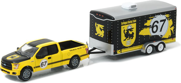 GreenLight 1/64 Hitch & Tow Series 9 - 2015 Ford F-150 and Terlingua Racing Trailer Solid Pack #32090-C