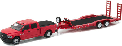 GreenLight 1/64 Hitch & Tow Series 9 - 2016 Ram 2500 Tradesman and Heavy Duty Car Hauler Solid Pack #32090-D