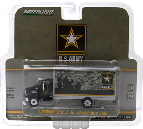 GreenLight 1/64 2013 International Durastar Box Van - U.S. Army - H.D. Trucks Series 3 - #33030