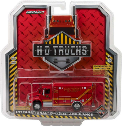 GreenLight 1/64 H.D. Trucks Series 9 - 2013 International Durastar Las Vegas Fire & Rescue Paramedics Solid Pack - #33090-C