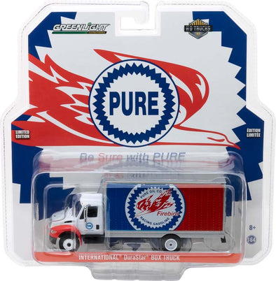 GreenLight 1/64 H.D. Trucks Series 11 - 2013 International Durastar Box Van Pure Oil Co. Firebird Racing Gasoline Solid Pack - #33110-C