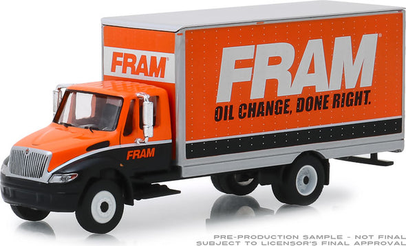 GreenLight 1/64 HD Trucks 16 - 2013 Durastar Box Van - FRAM Solid Pack - #33160-B