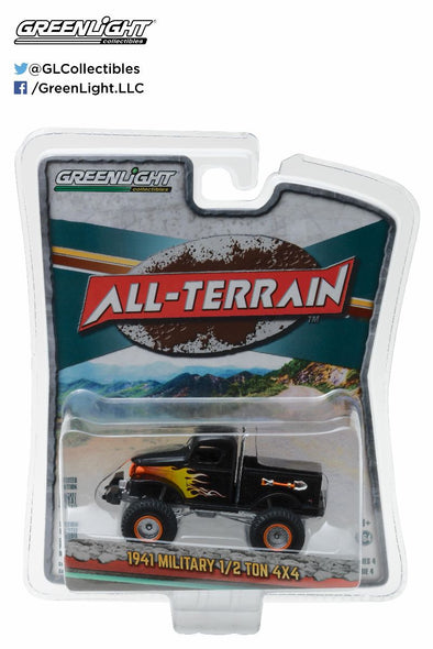 GreenLight 1/64 All-Terrain Series 4 - 1941 Military 1/2 Ton 4x4 Solid Pack - #35050-A