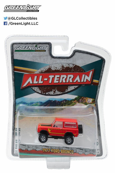 GreenLight 1/64 All-Terrain Series 4 - 1977 Ford Bronco Solid Pack - #35050-B
