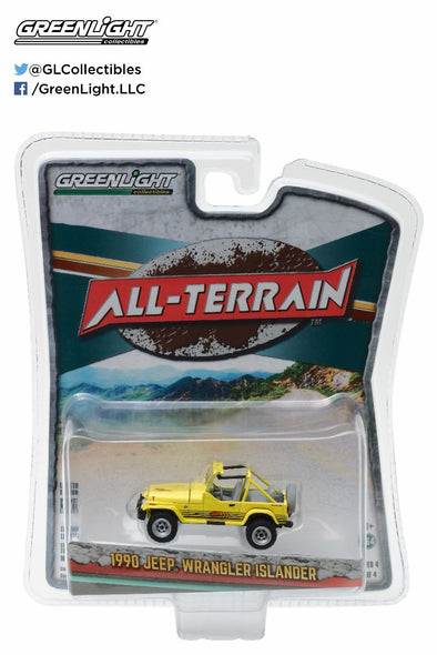 GreenLight 1/64 All-Terrain Series 4 - 1990 Jeep Wrangler Islander Solid Pack - #35050-C