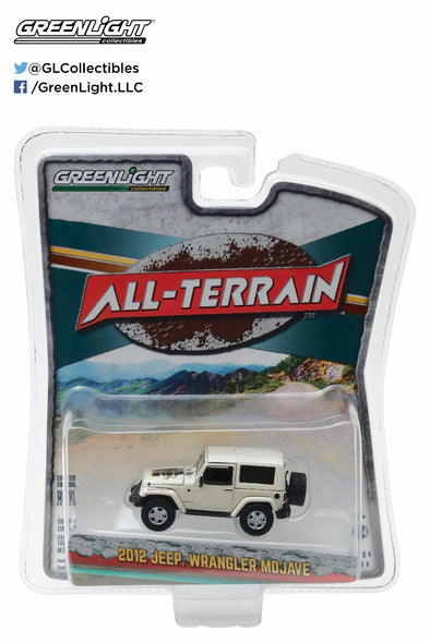 GreenLight 1/64 All-Terrain Series 4 - 2012 Jeep Wrangler Mojave Solid Pack - #35050-D