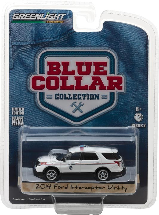 GreenLight 1/64 Blue Collar Collection Series 2 - 2014 Ford Explorer United States Postal Service (USPS) Postal Police Solid Pack - #35060-D