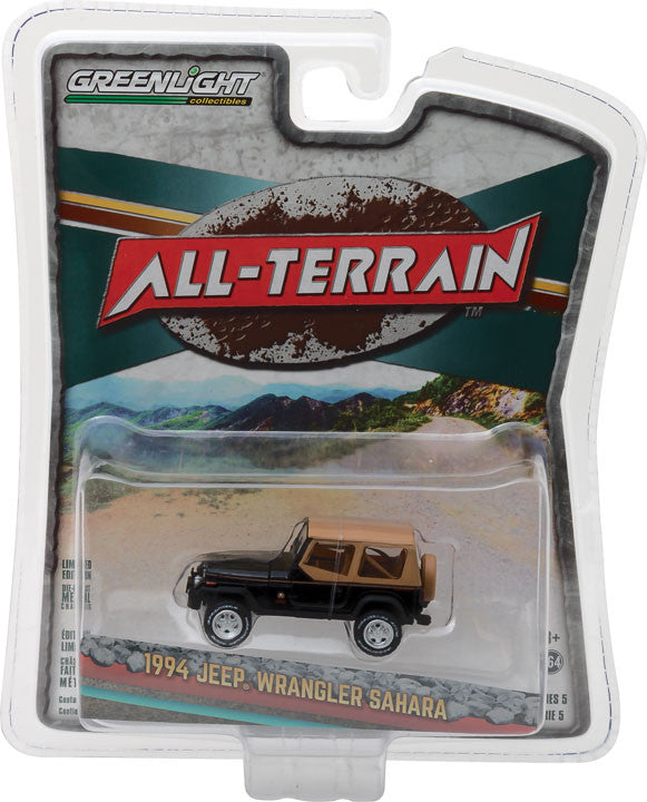 GreenLight 1/64 All-Terrain Series 5 - 1994 Jeep Wrangler Sahara Solid Pack - #35070-D