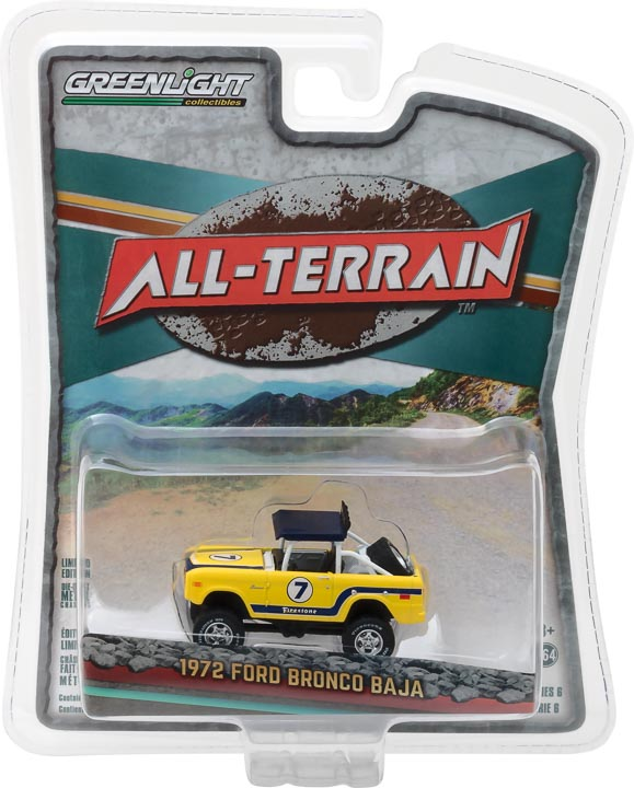 GreenLight 1/64 All-Terrain Series 6 - 1972 Ford Baja Bronco Solid Pack - #35090-B