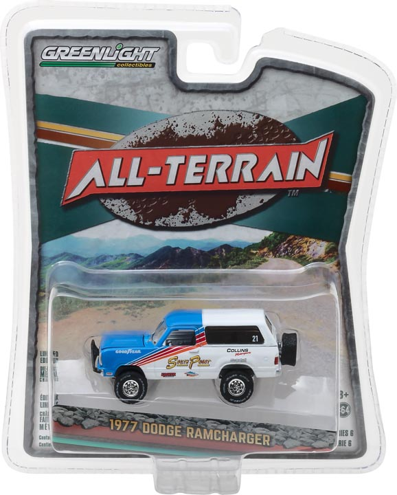 GreenLight 1/64 All-Terrain Series 6 - 1977 Dodge Ramcharger Solid Pack - #35090-C