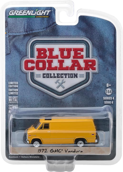 GreenLight 1/64 Blue Collar Collection Series 4 - 1972 GMC Vandura Solid Pack - #35100-C