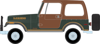 GreenLight 1/64 All-Terrain Series 7 - 1980 Jeep CJ-7 Laredo Solid Pack - #35110-D