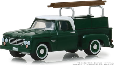 GreenLight 1/64 Blue Collar Collection Series 5 -1963 Dodge D-100 with Ladder Rack Solid Pack - #35120-B