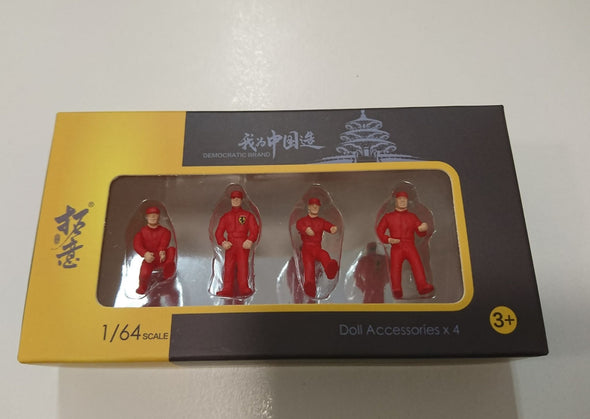 拓意 XCARTOYS 1/64 Maintenance Worker Figure Set (Red)