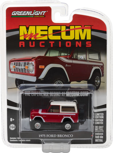 GreenLight 1/64 Mecum Auctions Collector Cars Series 1 - 1975 Ford Bronco Solid Pack  #37110-F