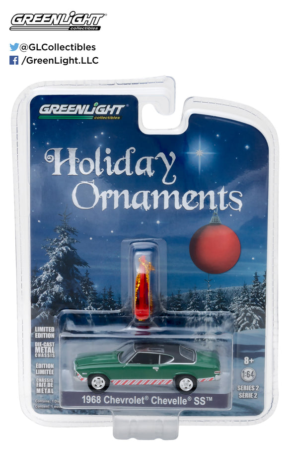 GreenLight 1/64 GreenLight Holiday Ornaments Series 2 - 1968 Chevy Chevelle SS Solid Pack  #37120-B
