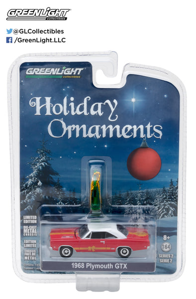 GreenLight 1/64 GreenLight Holiday Ornaments Series 2 - 1968 Plymouth GTX Solid Pack  #37120-C