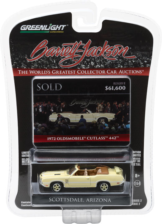 GreenLight 1/64 Barrett-Jackson 'Scottsdale Edition' Series 2 - 1972 Oldsmobile 442 'Bada Bing' (Previously Owned by Actor James Gandolfini) Solid Pack  #37130-F