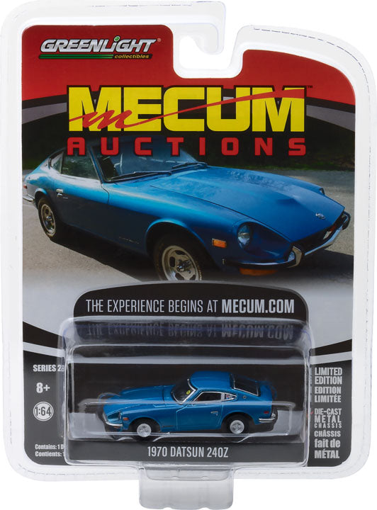 GreenLight 1/64 Mecum Auctions Collector Cars Series 2 - 1970 Datsun 240Z - Blue (Seattle 2014) Solid Pack #37140-B