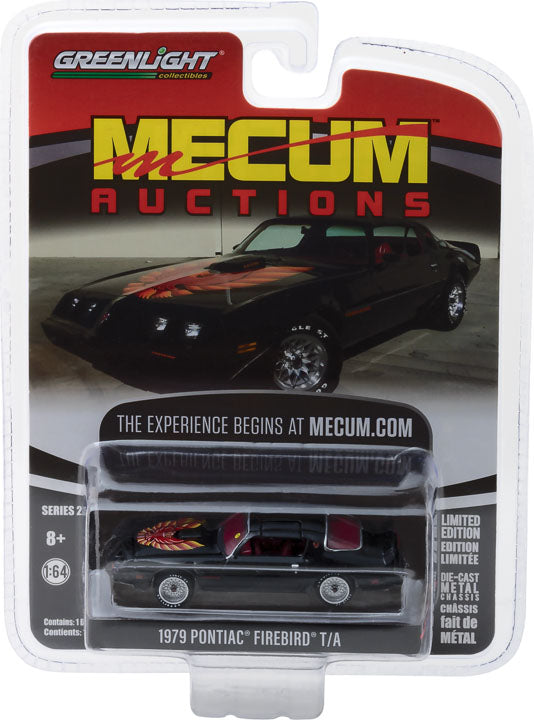 GreenLight 1/64 Mecum Auctions Collector Cars Series 2 - 1979 Pontiac Trans Am - Black (Kissimmee 2017) Solid Pack #37140-F