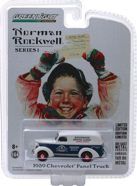 GreenLight 1/64 Norman Rockwell Delivery Vehicles Series 1 - 1939 Chevrolet Panel Truck Solid Pack #37150-A