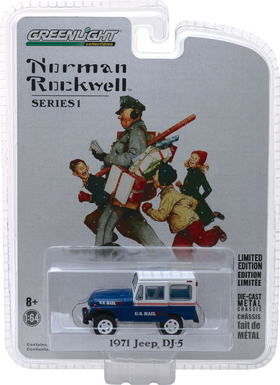 GreenLight 1/64 Norman Rockwell Delivery Vehicles Series 1 - 1971 Jeep DJ-5 Solid Pack #37150-C