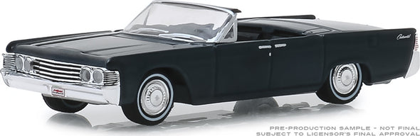 GreenLight 1/64 Barrett-Jackson 'Scottsdale Edition' Series 4 - 1965 Lincoln Continental Custom Convertible (Lot #1585) Solid Pack  #37180-D