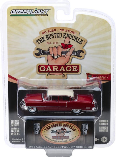 GreenLight 1/64 Busted Knuckle Garage 1 - 1955 Cadillac Fleetwood Series 60 Solid Pack - #39010-A