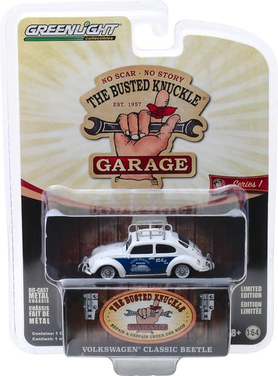 GreenLight 1/64 Busted Knuckle Garage 1 - Classic Volkswagen Beetle Solid Pack - #39010-F