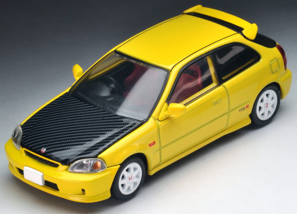 Tomica Limited Vintage Neo 1/64 1999 Honda Civic Type-R EK9 Yellow with Carbon bonnet (Hong Kong Edition)