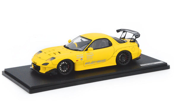 Ignition Models 1/18 MAZDA RX-7 (FD3S) RE Amemiya Yellow  - IG1042