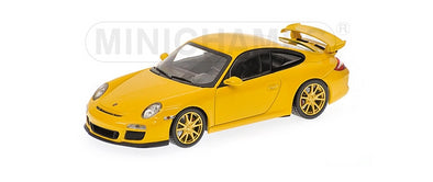Minichamps 1/43 PORSCHE 911 GT3 (997 II) – 2009 – YELLOW W/YELLOW WHEELS #400068022