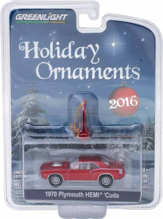 GreenLight 1/64 GreenLight Holiday Ornaments Series 1 - 1970 Plymouth HEMI 'Cuda Solid Pack - #40100-A