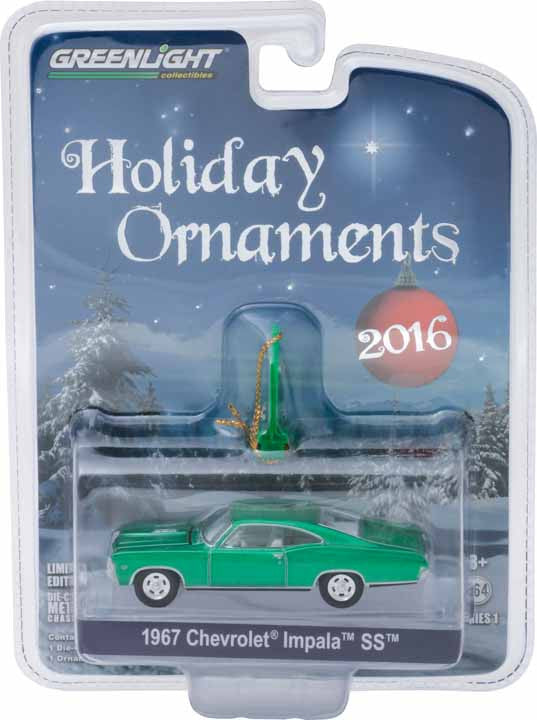 GreenLight 1/64 GreenLight Holiday Ornaments Series 1 - 1967 Chevy Impala SS Solid Pack - #40100-B