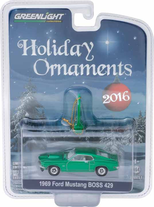 GreenLight 1/64 GreenLight Holiday Ornaments Series 1 - 1969 Ford Mustang BOSS 429 Solid Pack - #40100-D