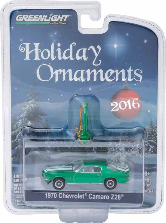 GreenLight 1/64 GreenLight Holiday Ornaments Series 1 - 1970½ Chevy Camaro Z/28 Solid Pack - #40100-F