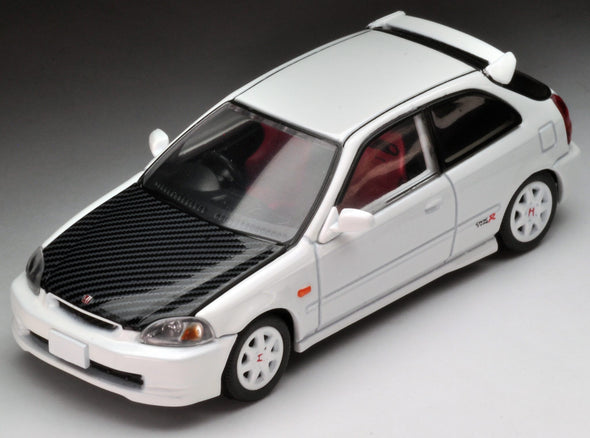 Tomica Limited Vintage Neo 1/64 1997 Honda Civic Type-R EK9 White with Carbon bonnet (Hong Kong Edition)