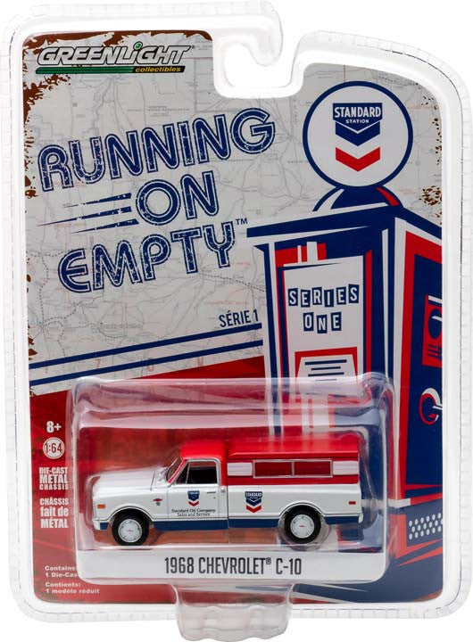 GreenLight 1/64 Running on Empty Series 1 - 1968 Chevrolet C-10 - Standard Oil Solid Pack- #41010-D