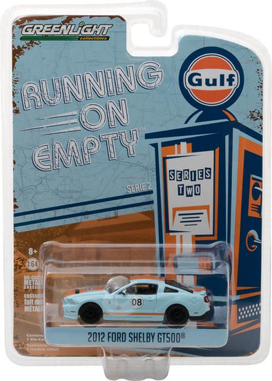 GreenLight 1/64 Running on Empty Series 2 - 2012 Shelby GT500 - Gulf Oil Solid Pack - #41020-F