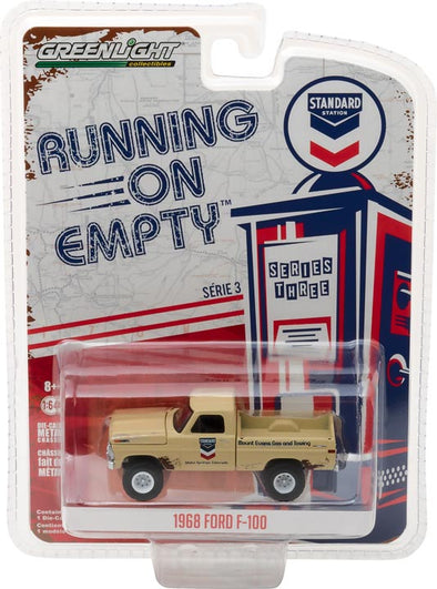 GreenLight 1/64 Running on Empty Series 3 - 1968 Ford F-100 - Standard Oil Solid Pack - #41030-B