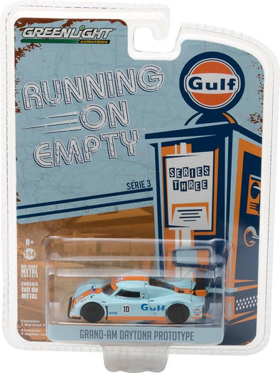 GreenLight 1/64 Running on Empty Series 3 - Grand-Am Daytona Prototype - Gulf Oil Solid Pack - #41030-F
