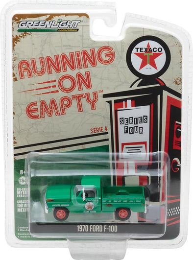 GreenLight 1/64 Running on Empty Series 4 - 1970 Ford F-100 - Texaco Filling Station Solid Pack - #41040-D