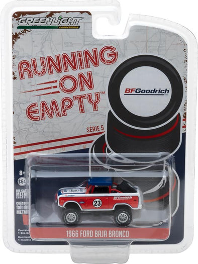 GreenLight 1/64 Running on Empty Series 5 - 1966 Ford Baja Bronco BFGoodrich Solid Pack - #41050-C
