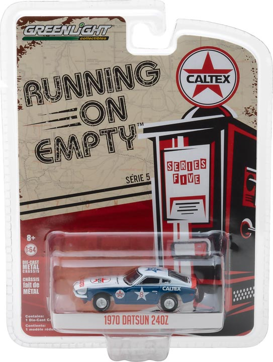 GreenLight 1/64 Running on Empty Series 5 - 1970 Datsun 240Z Caltex Solid Pack - #41050-E
