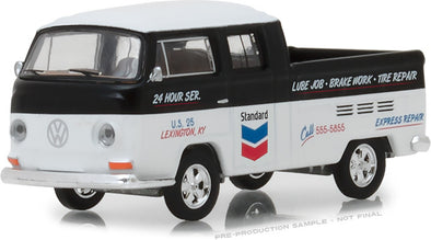 GreenLight 1/64 Running on Empty Series 6 - 1968 Volkswagen T2 Type 2 Double Cab - Standard Oil Change & Service Solid Pack - #41060-C