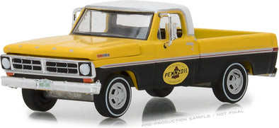 GreenLight 1/64 Running on Empty Series 6 - 1972 Ford F-100 - Pennzoil Solid Pack - #41060-D